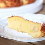 Serviervorschlag für Apfelkuchen mit Quark