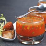 gebratener Lachs mit Tomaten-Mhren-Aspik